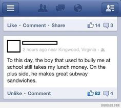 The boy who used to bully me…