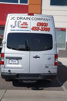 #vehiclegraphics #vehiclewraps #vehiclelettering #installationservices #vehiclegraphicsdesigns #SignaramaColorado #Signs #colorado Digitally printed graphics for JC Drain Company