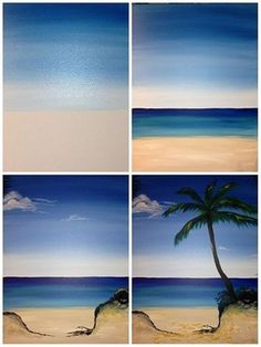 What is Your Painting Style? How do you find your own painting style? What is your painting style? Easy Canvas Painting, Acrylic Painting Tutorials, Diy Painting, Painting & Drawing, Canvas Art, Beach Scene Painting, Painting Lessons, Painting Techniques, Step By Step Painting
