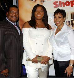Queen Latifah with her parents