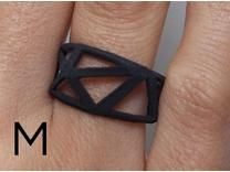 3D printed rings (black) by Goncalo Campos on Shapeways.  Price: $14.65