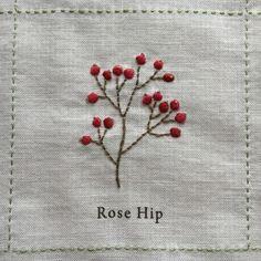 Folk Embroidery Patterns rosehip - Nuu Amu ~ ki to hi ~の画像 Embroidery Flowers Pattern, Simple Embroidery, Folk Embroidery, Learn Embroidery, Hand Embroidery Stitches, Hand Embroidery Designs, Embroidery Techniques, Ribbon Embroidery, Embroidery Scissors
