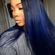 Love this colour - the electric/Royal blue and navy is really cute. This is my favourite colour out of all the pins btw. Something like this at the tips then a darker blue with black roots would be ideal