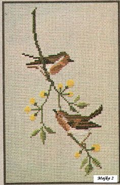 Cross Stitch Bookmarks, Cross Stitch Charts, Hand Embroidery, Embroidery Designs, Palestinian Embroidery, Birds, Crafts, Atv, Stitching