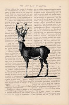 Deer print by ExLibrisJournals.