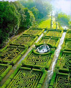 Ruspoli Castle, Italy - stunning knot garden