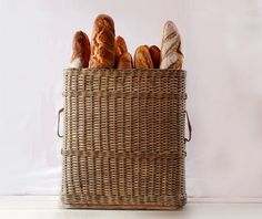 AMAZING Old XXL 23.6 French woven BASKET 1940 by RueDesLouves