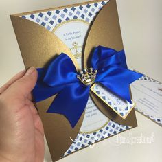 Royal prince baby shower invitations! ✨ #dianarcreations #prince #invitations                                                                                                                                                     More