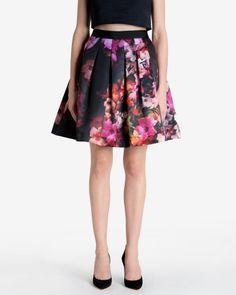 Cascading floral full skirt - Black | Skirts & Shorts | Ted Baker - obsessed so I ordered it!