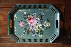 Vintage Tole Tray by MaxandMaddieVintage on Etsy
