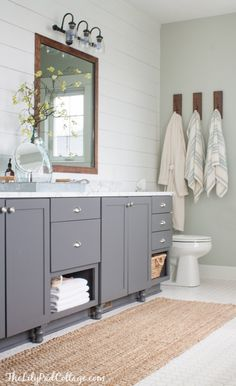 Cheap charming our 51 bathroom makeover the o 39 jays for Lake cottage bathroom ideas