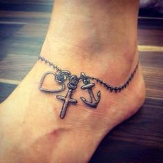 60 Creative Foot Tattoo Designs for Women Bracelet Tattoos, Necklace Tattoo, Ankle Braclet Tattoo, Charm Bracelet Tattoo, Rosary Tattoo Wrist, Foot Bracelet, Anklet Bracelet, Rosary Ankle Tattoos, Key Bracelet