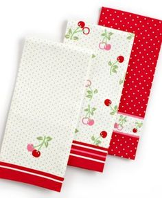 Cherry Kitchen Towels Cherries Polka Dots The Perfect Marriage