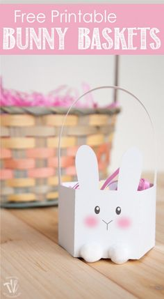 Are you looking for the perfect easy craft to do with the kids? Grab these free printable bunny baskets and let them go to town decorating it for Easter.