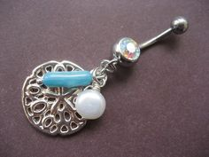 sand dollar belly button ring