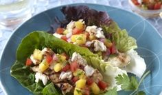 Grilled Fish Wraps (tilapia or salmon or ??) - and this website has LOTS of healthy recipes!