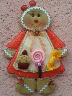 Jengibre dulce Cute Christmas Ideas, Christmas Bells, Christmas Love, Christmas Projects, Christmas Themes, Handmade Christmas, Christmas Decorations, Christmas Ornaments, Gingerbread Christmas Tree