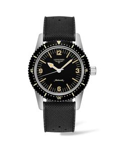 Longines Skin Diver Stainless Steel, Pvd & Rubber Strap Watch In Black Gents Watches, Watches For Men, Skin Diver, Charles Lindbergh, Gold Chains For Men, Elegant Watches, Stainless Steel Watch, Automatic Watch, Oslo