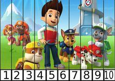 puzle de numeros 1-10 patrulla canina 1