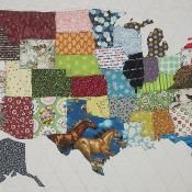 USA Patchwork Map