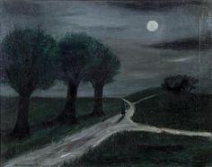 """ Moonlight Path - Gertrude Abercrombie 1941 American painter 1909-1977 """