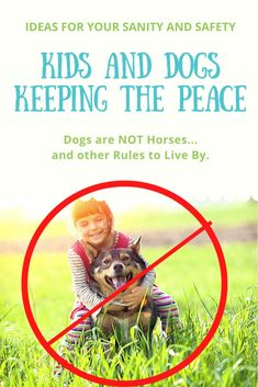 Kids and Dogs - Keeping the Peace. Ideas to improve your safety and keep the kids and dogs safe. Living With Dogs, Keep The Peace, Left Alone, Life Happens, Sleeping Dogs, Family Dogs, Child Safety, Dog Behavior, Training Your Dog