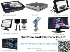Our company have TFT LCD monitor,industrial panel pc,Digital signage kiosk,touch screen monitor,waterproof all in on PC,computer desktop monitor and panel PC.We also provide customers with touch screen LCD,industrial panel PC,PCBA video solutions.