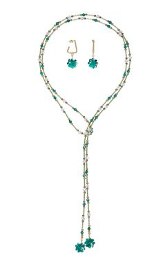 Jewelry Design - Lariat-Style Necklace and Earring Set with Swarovski® Crystals, Dyna-Mites™ Bugle Beads and Metal Beads - Fire Mountain Gems and Beads