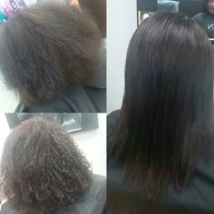 Brazilian Blowout Before And After Hair By Stephanie