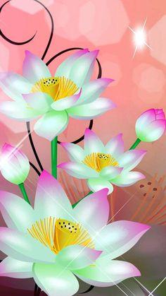 By Artist Unknown. Flowery Wallpaper, Flower Background Wallpaper, Flower Phone Wallpaper, Butterfly Wallpaper, Cellphone Wallpaper, Flower Backgrounds, Galaxy Wallpaper, Wallpaper Backgrounds, Iphone Wallpaper