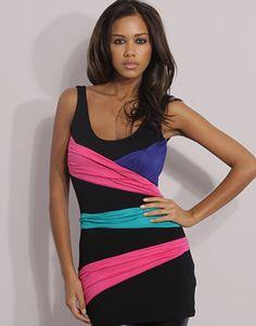 ASOS Colour Block Longline Vest