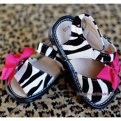 Zebra Print Squeakers Sandals
