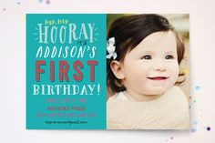 Firstie Children's Birthday Party Invitations by Rebecca Bowen at minted.com