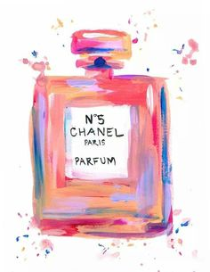 Pink Chanel No 5 Perfume Painting Inspiration, Art Inspo, Parfum Chanel, Image Deco, Perfume, Pics Art, Wall Collage, Oeuvre D'art, Artsy Fartsy