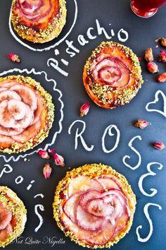 rose pear tarts