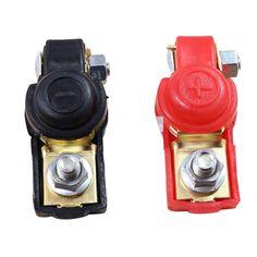 Adjustable 12V Car Auto Battery Terminal Clamp Clip Connector Negative/&Positive