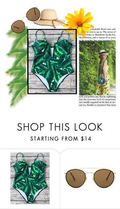 """""""bu"""" by mariana2702 ❤ liked on Polyvore featuring Ray-Ban"""