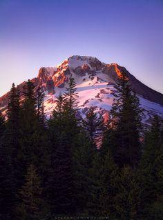 Mt. Hood Sunset From Mirror Lake