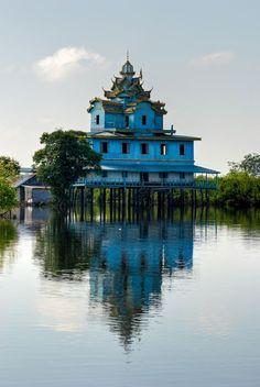 La maison bleue près de Battambang