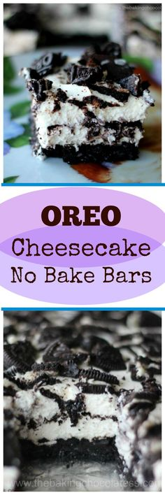 Oreo Cheesecake No Bake Bars