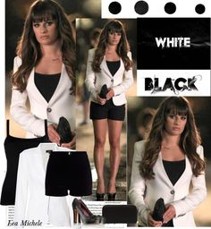 """""""Star Style; Lea Michele on th set of Glee"""" by nadiae ❤ liked on Polyvore"""