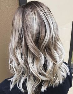 White Blonde Highlighted Style 2018