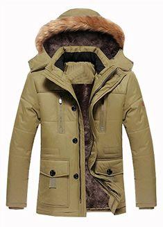 da29de374ab7 Wicky LS Men s Warm Thicken Winter Fur Hoodie Jacket Coat