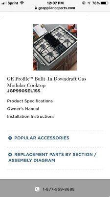 Ge Profile Built In Downdraft Gas Modular Cooktop Stove