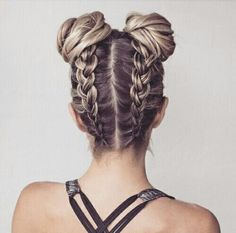 Germain braid up to double top knot.