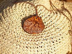Tree pendant Pyrography jewelry Handmade jewelry Wooden