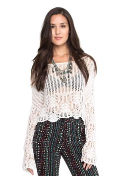 blusa rendada manga sino - Blusas | Dress to