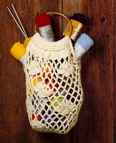 NEW! Crochet Shopping Bag pattern from Gift Ideas & Great Ideas, Leaflet No. 2633.