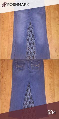 Distress Denim Jean Skirt Mini Aeropostale New/prewashed At Home Size 0