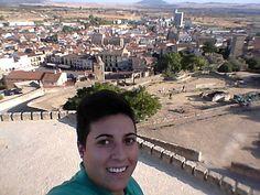 Lydia desde el castillo de Trujillo